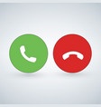 phone call icon set with green call out button vector image vector image