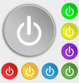 Power sign icon Switch symbol Symbols on eight vector image