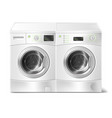 realistic front-load washer and dryer vector image vector image