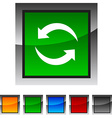 Refresh icons vector image vector image