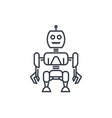 robotics robot linear style vector image vector image
