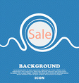 Sale tag Icon for special offer Blue and white vector image