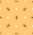 seamless pattern with ants and circles vector image vector image