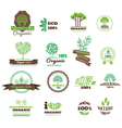 set logos stamps badges labels for natural vector image vector image