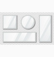 set mirrors with reflection in silver frame vector image