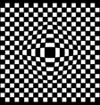 square checkered background with illusion vector image vector image