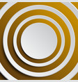 the concentric a gold elements background vector image