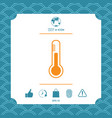 thermometer symbol icon vector image vector image