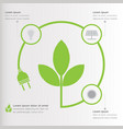 three steps green ecology infographics elements vector image vector image