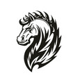 tribal horse head mascot or tattoo vector image vector image