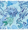 Water Sketch Pattern vector image vector image