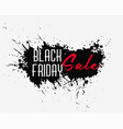 abstract black friday ink splash background vector image vector image