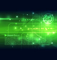 abstract hi-tech background in green color vector image vector image