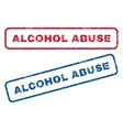 Alcohol Abuse Rubber Stamps vector image
