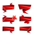 art ribbons paper ribbons design template vector image