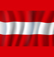 austria national official flag waving triband vector image