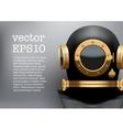Background of Underwater diving suit helmet vector image vector image
