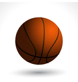 basket ball and shadow vector image vector image
