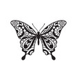 beautiful butterfly hand drawn ornamental print vector image