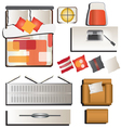Bedroom top view set 4 for interior vector image