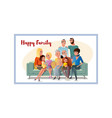 big happy family gathering together at home vector image vector image