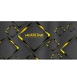 Black yellow contrast tech background vector image vector image