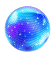 blue disco ball on white background for design vector image vector image