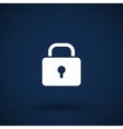 Blue lock icon with protection key password vector image vector image