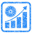 cardano growing chart framed stamp vector image vector image