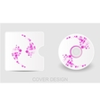 CD DVD Blu-ray white cover design template