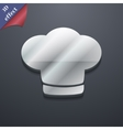 Chef hat icon symbol 3D style Trendy modern design vector image vector image