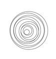 circular spiral sound wave vector image vector image