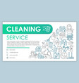 cleaning service web banner business card