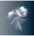 cloud and lightnings vector image vector image