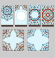colored mandala cards in colors of india vector image