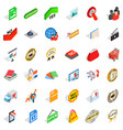commodity icons set isometric style vector image vector image