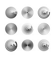 concentric circles abstract geometric vector image vector image