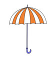 cute cartoon umbrella vector image