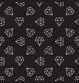 dark seamless pattern with diamonds vector image