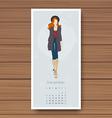 december hand drawn fashion models calendar 2016 vector image vector image