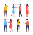 dialogue people communication characters web chat vector image vector image