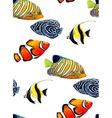 Fish Pattern4 vector image vector image