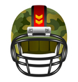 football helmet with camouflage vector image vector image