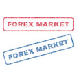 forex market textile stamps vector image vector image