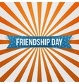 Friendship Day curved festive Banner vector image vector image