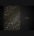 geometric vip golden greeting card black premium vector image vector image