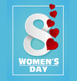 gift card for international women s day march 8 vector image vector image