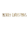 golden glitter isolated hand writing word merry vector image vector image