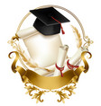 graduation diploma or certificate realistic vector image vector image