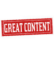 great content sign or stamp vector image vector image